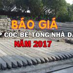 Báo giá chi phí ép cọc bê tông nhà dân – nhà phố tại Hà Nội