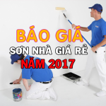 Báo giá sơn nhà giá rẻ năm 2020