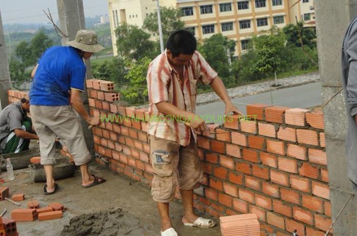 Báo giá nhân công xây tường