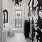 Lựa chọn gạch ốp lát nền nhà tắm với 2 màu cơ bản trắng và đen