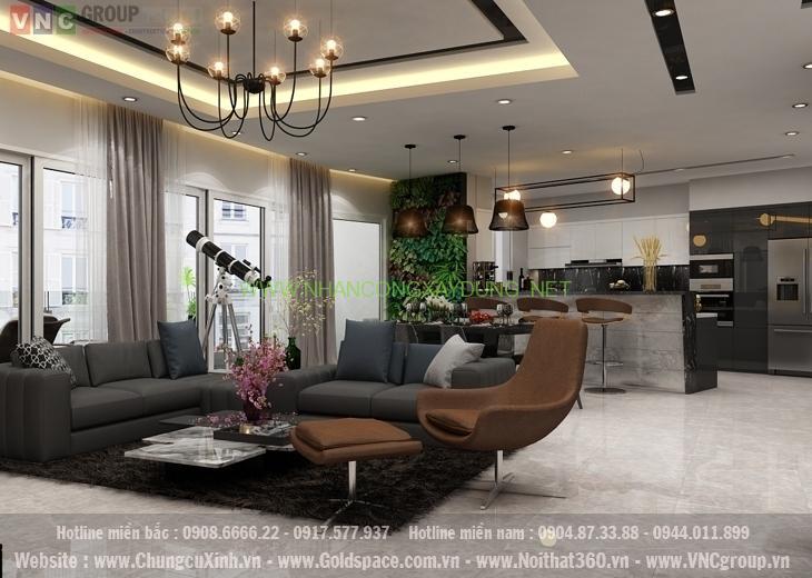 Đẹp tinh tế với thiết kế nội thất căn hộ 12 tòa C7 chung cư D'Capitale Trần Duy Hưng