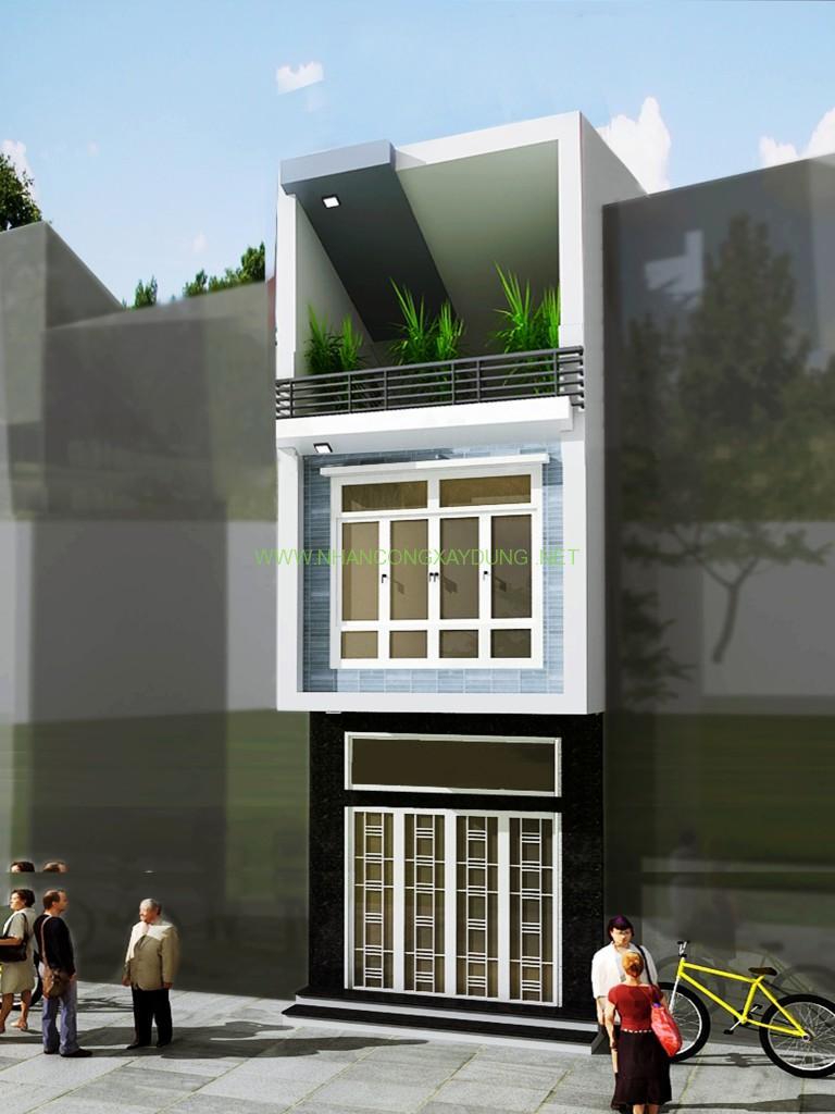 Thiết kế Nhà đẹp cho 4 người trên đất 5,5 x 10 m