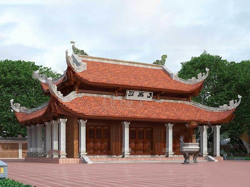 Nhà thờ họ 8 mái là một kiểu biến tấu từ mẫu nhà thờ họ 4 mái mang nét đẹp truyền thống