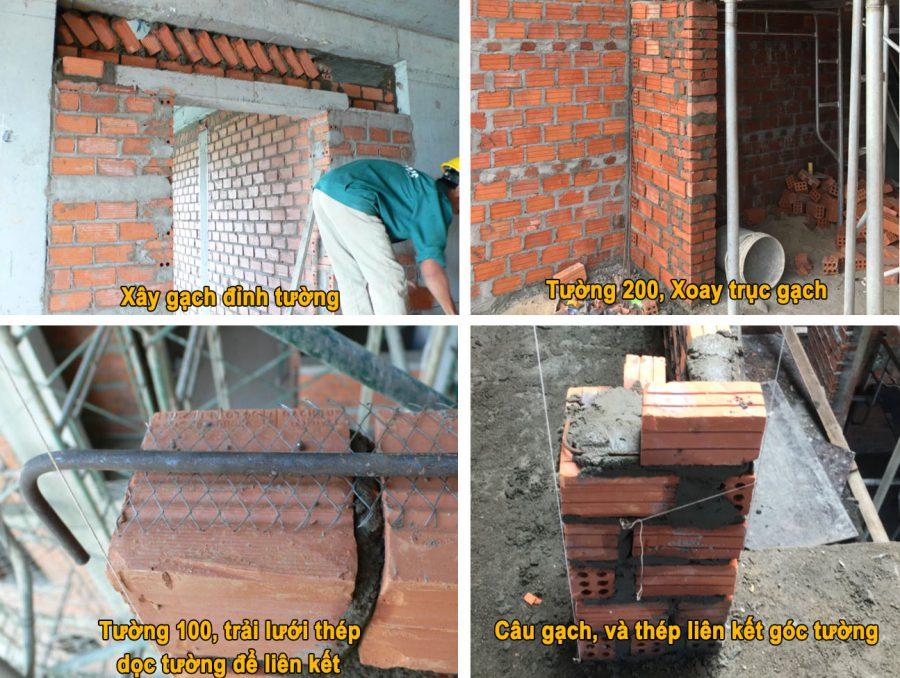 Cách xây tường gạch đúng kỹ thuật