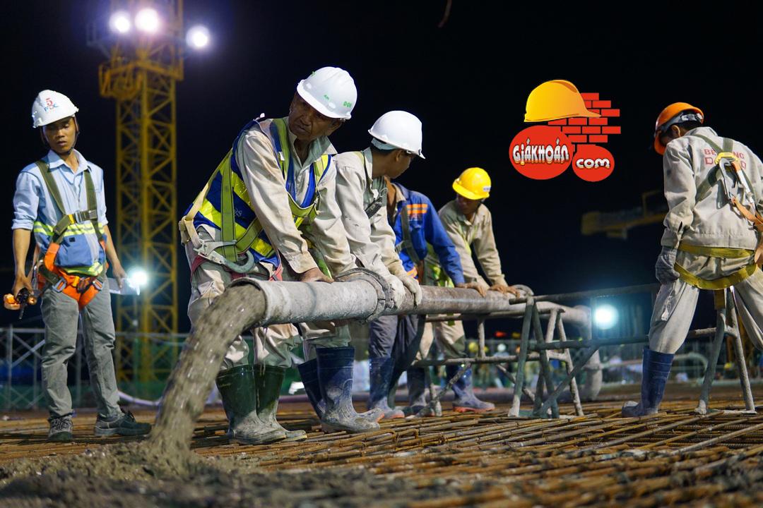 Nhân công thi công bê tông