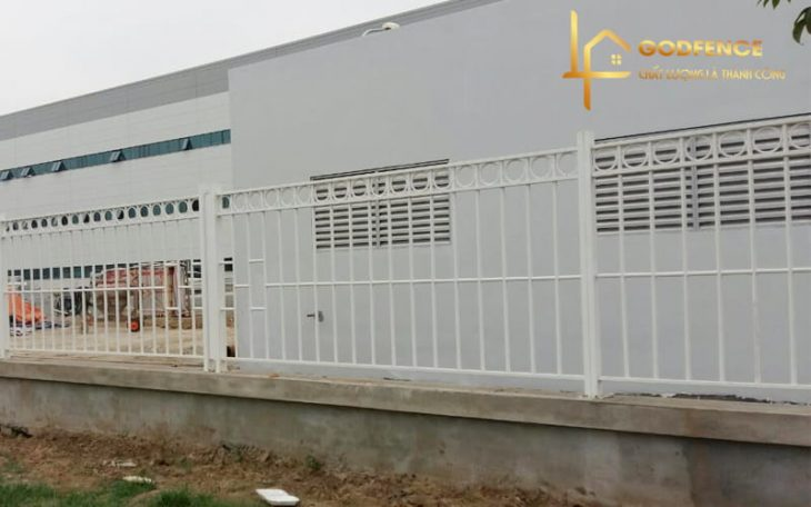 HRSH – 02 Hàng rào khung sắt hộp sơn tĩnh điện