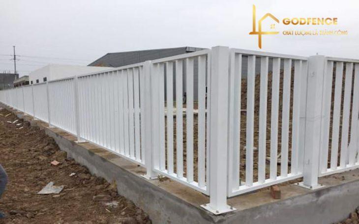 HRSH – 07 Hàng rào sắt hộp mạ kẽm sơn tĩnh điện