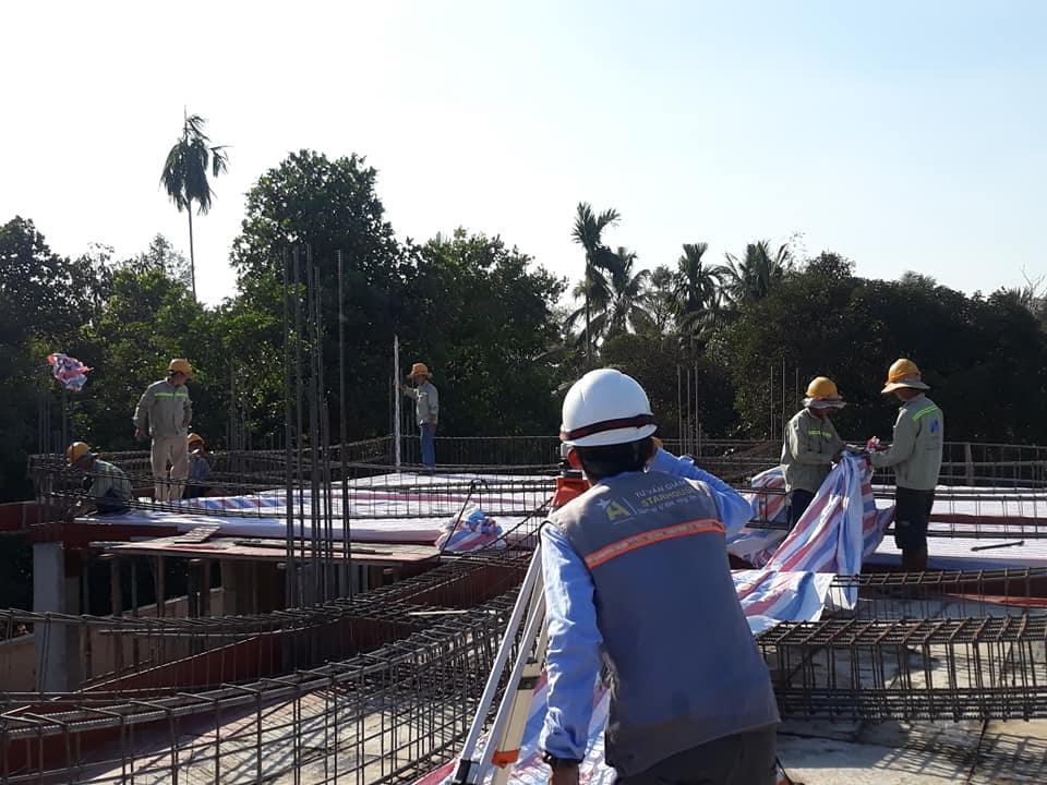 Quy trình giám sát công tác đổ bê tông cột, dầm, sàn công trình