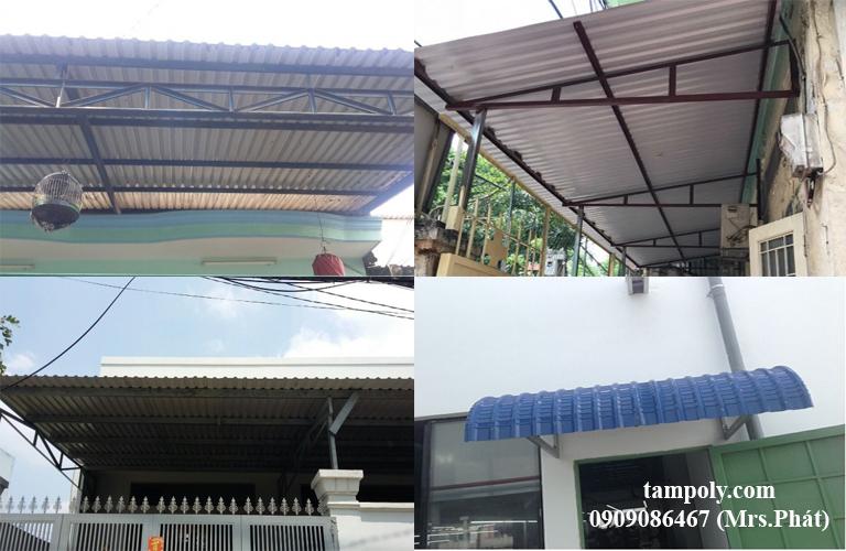 Lợp mái tôn nhà mà không thay đổi kết cấu của nhà thì không cần phải xin giấy phép