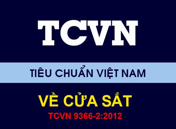 Tiêu chuẩn cửa sắt TCVN 9366-2:2012 về Cửa đi cửa sổ