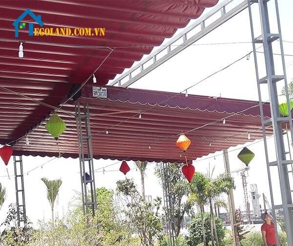 Hoàn thành lắp đặt mái xếp lượn sóng tại Hà Nội