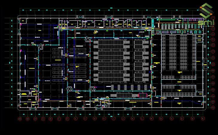 Bản vẽ CAD hệ thống điện nhà xưởng cần dễ đọc, dễ hiểu
