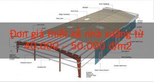 Đơn giá thiết kế nhà xưởng công nghiệp
