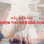 Biên bản nghiệm thu điện dân dụng