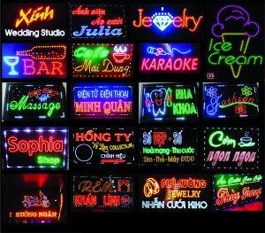 Báo giá làm biển hiệu quảng cáo đèn led đẹp giá rẻ