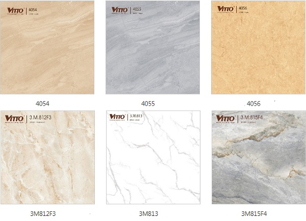 Các mẫu gạch lát sàn nhà kích thước lớn nổi bật của thương hiệu Vitto