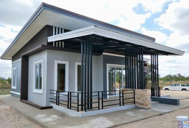 Nhà mái lệch tôn cach nhiệt giá xây chỉ 500 triệu