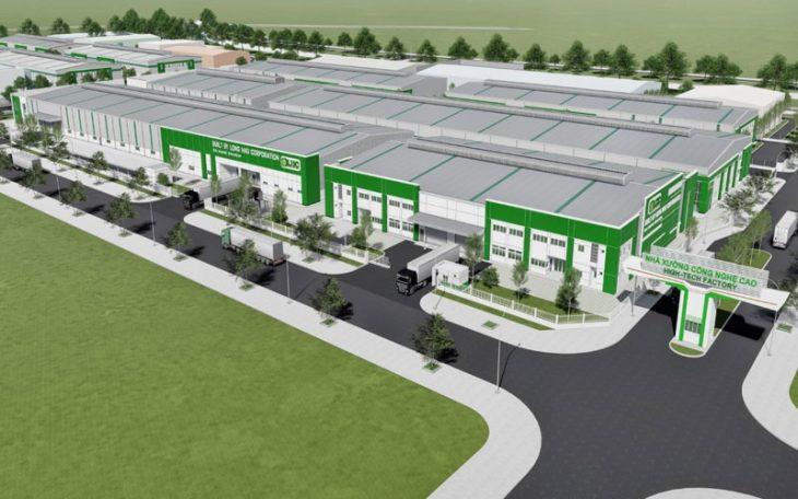 Phối cảnh xưởng sản xuất công nghệ cao được thiết kế và xây dựng bởi Công ty CP Long Hậu