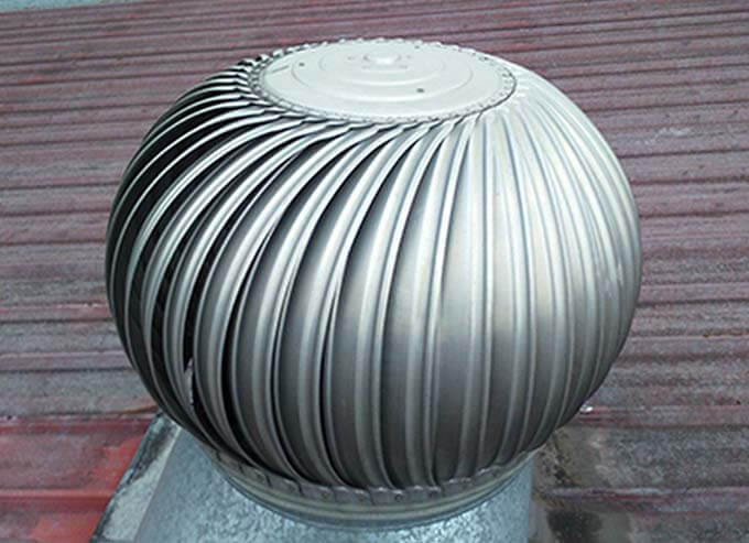 Thông gió cho nhà mái tôn bằng quả cầu thông gió