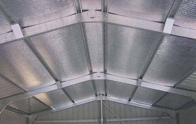 Thông gió cho nhà mái tôn bằng tấm nhựa cách nhiệt PE-OPP