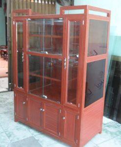 Mẫu tủ nhôm kính bán hàng, tủ nhôm kính trưng bày đẹp