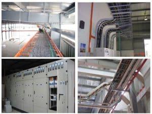 Công tác thi công hệ thống cáp cấp nguồn tổng cho khu nhà xưởng
